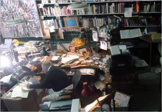 William F. Buckley's desk
