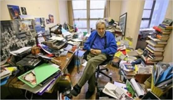 Nat Hentoff's desk